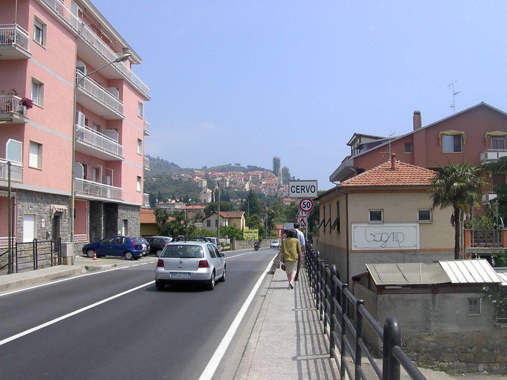 Via Aurelia mit Blick auf Cervo