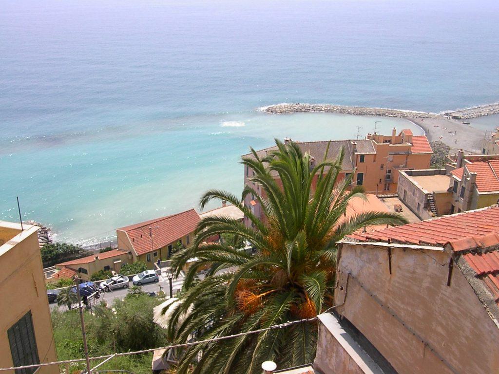 Blick von Cervo auf den Golf von Diano Marina